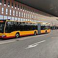 Ein KVV-Bus vor der Messe Karlsruhe.